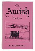 Old Amish Recipes Paper Instruction Book Bear Wallow Books