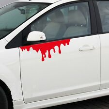 Hoods Headlight Tail Light Funny Thriller Red Bleed Vinyl Decal Sticker Best
