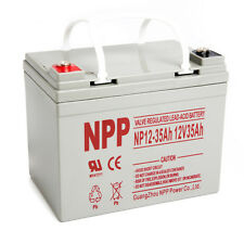 NPP 12V 35Ah U1 Deep Cycle AGM Solar Battery Also Replaces 33Ah 34Ah 35Ah