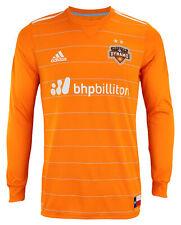 adidas MLS Men's Houston Dynamo Authentic Long Sleeve Jersey, Orange