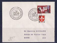 ec59/ Enveloppe   2è salon  porcelaine  et cristaux  Grenoble        1959