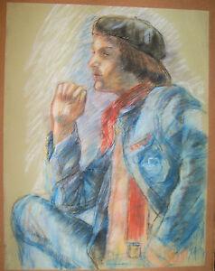 """PROFILE PORTRAIT"" by Ruth Freeman PASTEL 18""  X 23 1/4"""