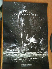 POSTER FROM 2012 WONDERCON THE DARK NIGHT RISES PROMOTIONAL POSTER VERY RARE!!