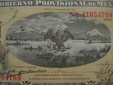 Mexico 1 Peso REVOLUTION  Banknote, 1914 Series A   paper money  Eagle and Snake