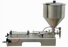 full Pneumatic paste piston filling machine 50-600ml for cream shampoo cosmetic