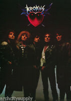POSTER :MUSIC: KROKUS - ALL 5 POSED - FREE SHIPPING !  #NM-P45  RAP122 A