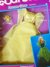 BARBIE 1985 DREAM GLOW FASHION ABEND KLEID RAR ZAUBERGLANZ VINTAGE  #2189 NRFB