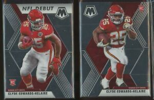 (2) 2020 Panini Prizm Mosaic CLYDE EDWARDS HELAIRE NFL DEBUT BASE RC Rookie Card