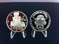 "1 oz-1 TROY OUNCE.999 FINE SILVER PROOF ""UNCLE WALKER"" Like Zombucks  1oz Coins"
