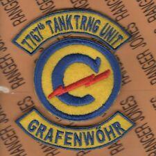 US Army 7767th CONSTABULARY TANK TRAINING UNIT GRAFENWOHR patch tab set