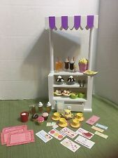 """American Girl 18"""" Doll Lot Snack/Food Stand Ice Cream Tea Treats Cupcakes & More"""
