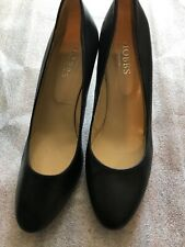 Hobbs Black Mid Heel Leather Court Shoes Size 39.5