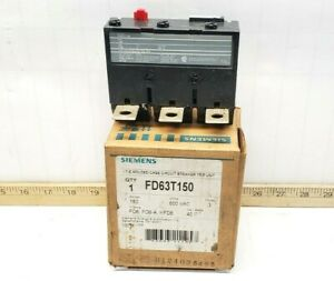 NEW IN BOX SIEMENS 150 AMP MOLDED CASE CIRCUIT BREAKER TRIP UNIT 600V FD63T150