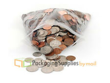 200 pcs 3x4 Small Clear 4 Mil Poly Bag Reclosable Plastic Jewelry Baggies
