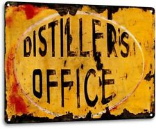 Distillers Office Shine Moonshine Retro Bar Man Cave Wall Decor Metal Tin Sign