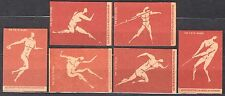 POLAND 1960 Matchbox Label - Cat.Z#196/201I set, Olympic Games ROME 1960.