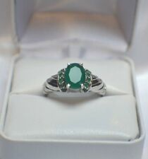 3.64 ct. NATURAL GENUINE  AFRICAN EMERALD  DINNER STATEMENT COCKTAIL GYPSY RING