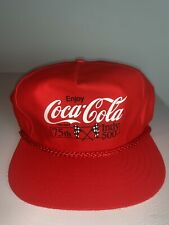 Men's Vintage 1991 75th Indy 500 Coca Cola Snapback Hat Cap Indianapolis NWOT