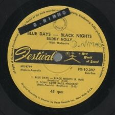 "BUDDY HOLLY   Rare 1961 Aust Only 7"" OOP Festival EP ""Blue Days - Black Nights"""