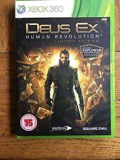 Deus EX REVOLUCIÓN HUMANA-Edición Limitada de Xbox 360 (sin Sellar)! totalmente Nuevo!