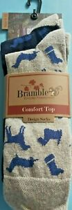 4 Pairs of Mens Bramble Everyday Countrywear Comfort Top Hounds Dog Socks 6 - 11