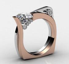 Antique heart 1 Ct White Round Cut Diamond 925 Silver Engagement & Wedding Ring