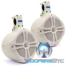 """POWER ACOUSTIK MWT-80 WHITE 8"""" 750W MARINE BOAT WAKE TOWER TWEETERS SPEAKERS NEW"""