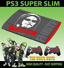 Playstation Ps3 Super Slim fhritp f@*k su derecho en la piel pegatina & 2 Pad Skins
