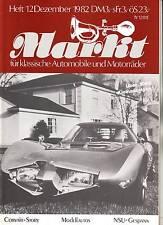 Oldtimer Markt 12/82 NSU OSL 251 Gespann Restaurie/Chevy Corvair Story Chevrolet