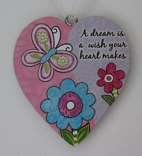 ood A dream is a wish your heart makes simple LOVE HEART ORNAMENT ganz