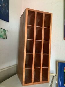 Vintage wooden pigeon hole shelf