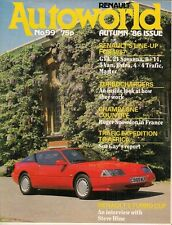 Renault Autoworld Magazine No 99 Autumn 1986 UK Brochure R5 R9/11 R21 GTA Trafic