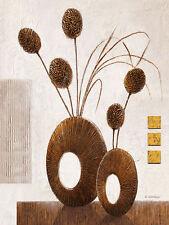 Karsten Kirchner: Reflection III Stillleben 60x80 Keilrahmen-Bild modern braun