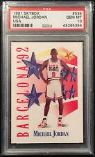 1991 Skybox Team USA Michael Jordan #534 PSA 10 GEM MINT Barcelona 92 Dream Team