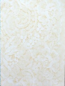 2 x A4 Lace Patt Backing Paper 120gsm Blue/Pk/Lilac/Yellow/Beige/Green/Black NEW