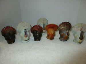Vintage Gurley Turkey Candles, Thanksgiving Decorations