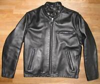 """"""" SCHOTT NYC """" Lederjacke / Bikerjacke / Motorrad- Jacke in schwarz ca. Gr. 48"""