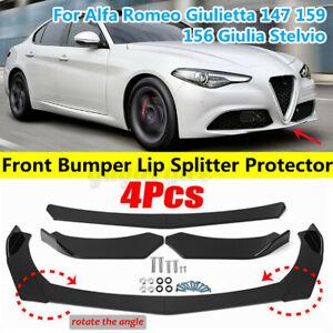 Glossy Black Front Bumper Splitter For Alfa Romeo Giulietta 147 159 156 Giulia