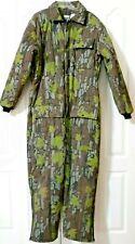 Saftbak Camo Hunting Suit  Size XL 46-48 One Piece USA Made Green Brown Treebark
