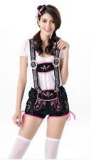 Octoberfest/Oktoberfest German Beer Maid Costume 10-12 Lederhosen Blouse & Hat