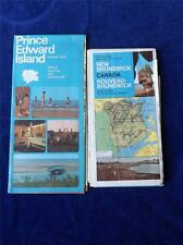 MAP NEW BRUNSWICK CANADA 1970-71 & PEI 1970 OFFICIAL ROAD MAP TOURIST GUIDE