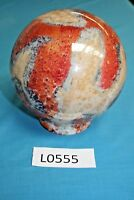 """6"""" Red / brown marble effect glass globe light shade"""