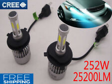 CREE LED LAMP 252W 25200LM H4 9003 HB2 HEADLIGHT KIT Hi/Low BEAM BULBS Globes