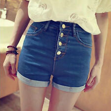 High Waist Classic Denim Shorts