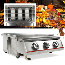Gas Grill 3 Burner Stainless Steel BBQ Propane Outdoor Barbecue Cooker Patio