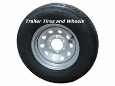"""235/80R16 LRE RN Radial Trailer Tire on 16"""" 6 Lug Silver Mod Trailer Wheel"""
