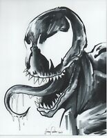 VENOM Ink sketch portrait drawing SPIDER MAN Marvel comic cartoon film movies