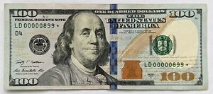 2009-A $100 Bill Federal Reserve Note Fancy Low 3-Digit Serial LD 00000899 STAR