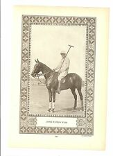 James Watson Webb 1928 Who's Who Insert Supplement Poster #885 Polo