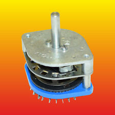 3 POLE 4to2 POSITONS KT1241-1 KONTAKTA NON-SHORTING / SHORTING ROTARY SWITCH
